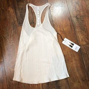 Alo Yoga racer back tank in ivory size small